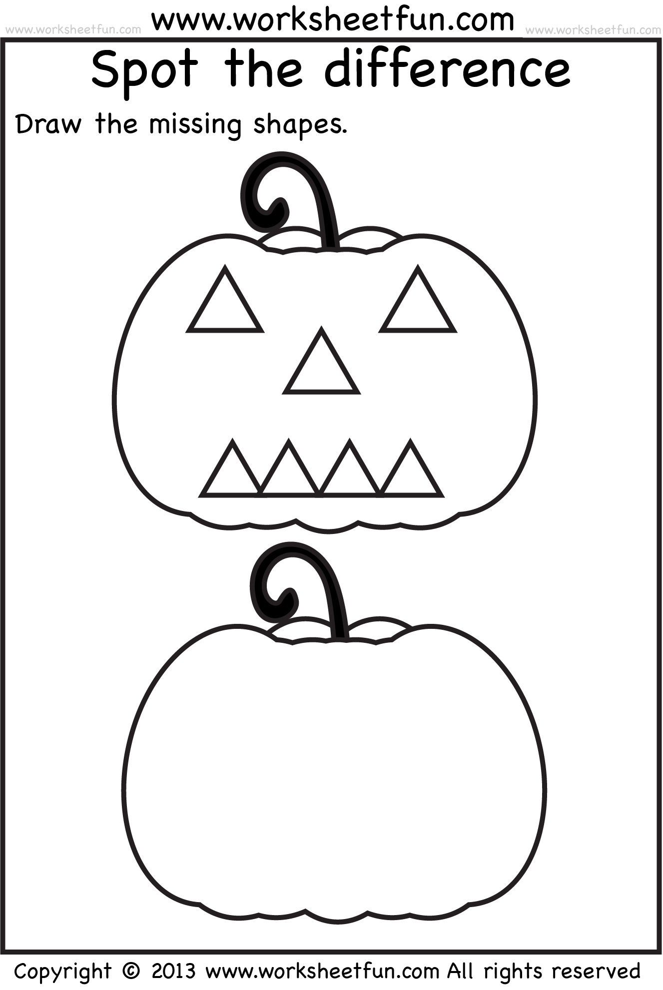 Pumpkin Worksheets With Images