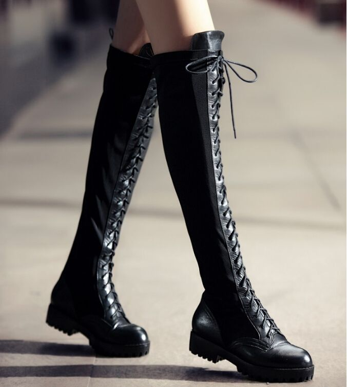 Find More Boots Information about 2014 Plus Size Punk Black ...
