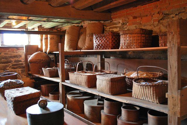 Visit a shaker village for home goods like picnic baskets for Minimalist home goods