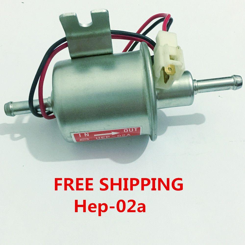 Free Shipping Diesel Petrol Gasoline Universal 12v Electric Fuel Pump Hep 02a For Carburetor Motorcycle Atv Petrol Low Pressure Pumps