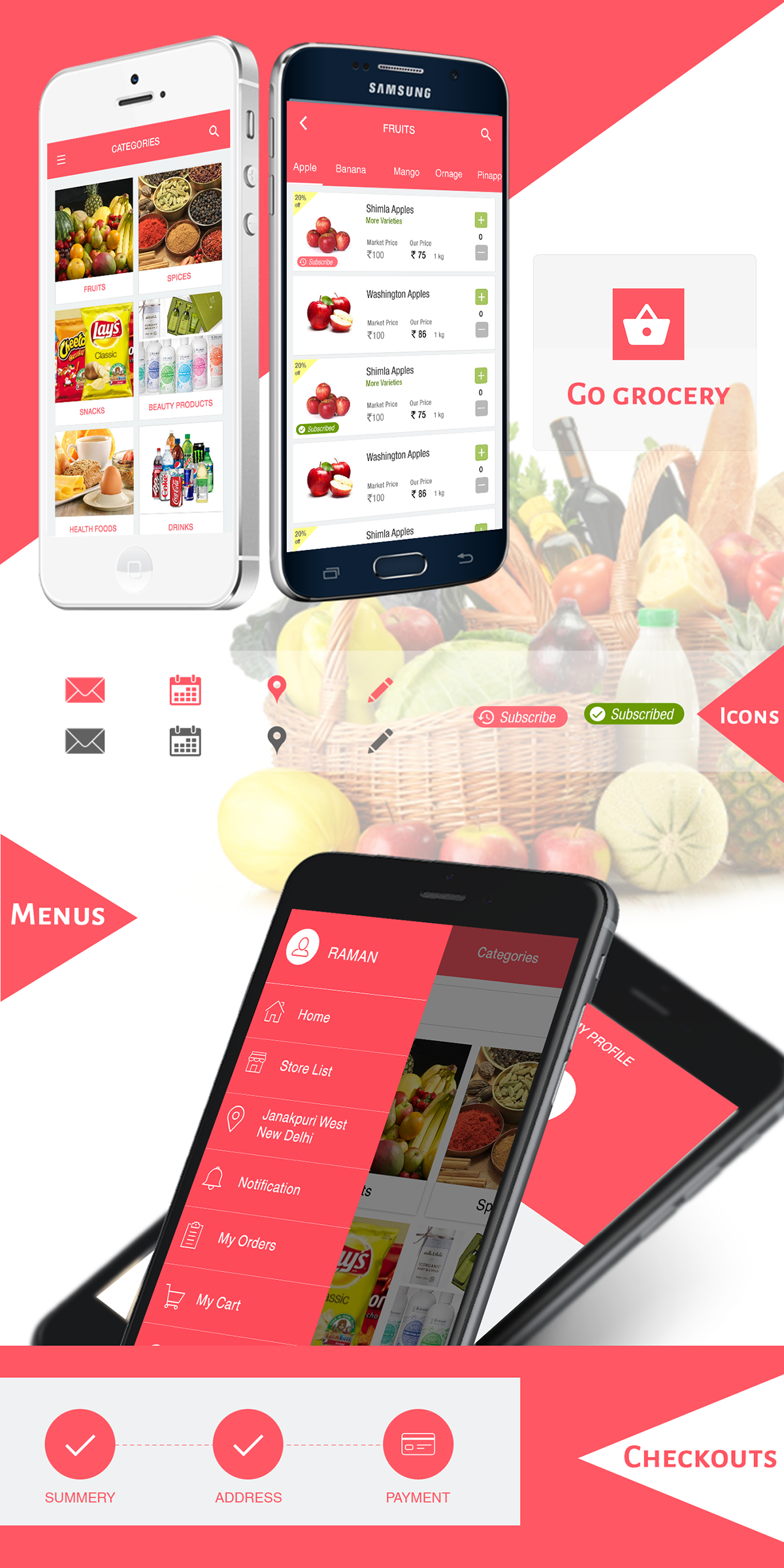 Grocery App Development and Solutions for Android, iOS