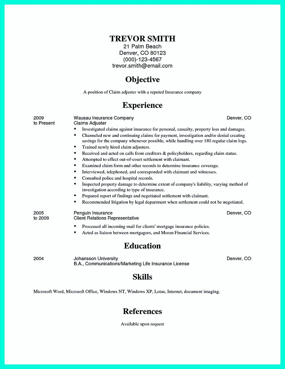 independent insurance resume templates skills are needed of course in every job but for claim adjuster special and