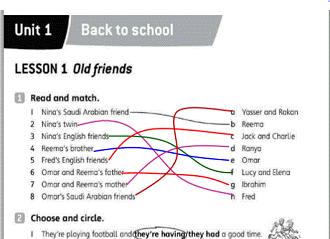 الإنجليزي أول متوسط الفصل الدراسي الثاني School Lessons Lesson Back To School