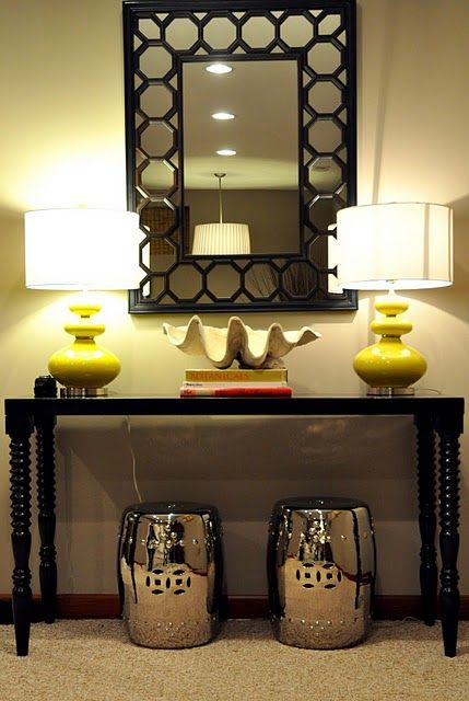 Green Foyer Table : Trying to find the perfect entry way design for our
