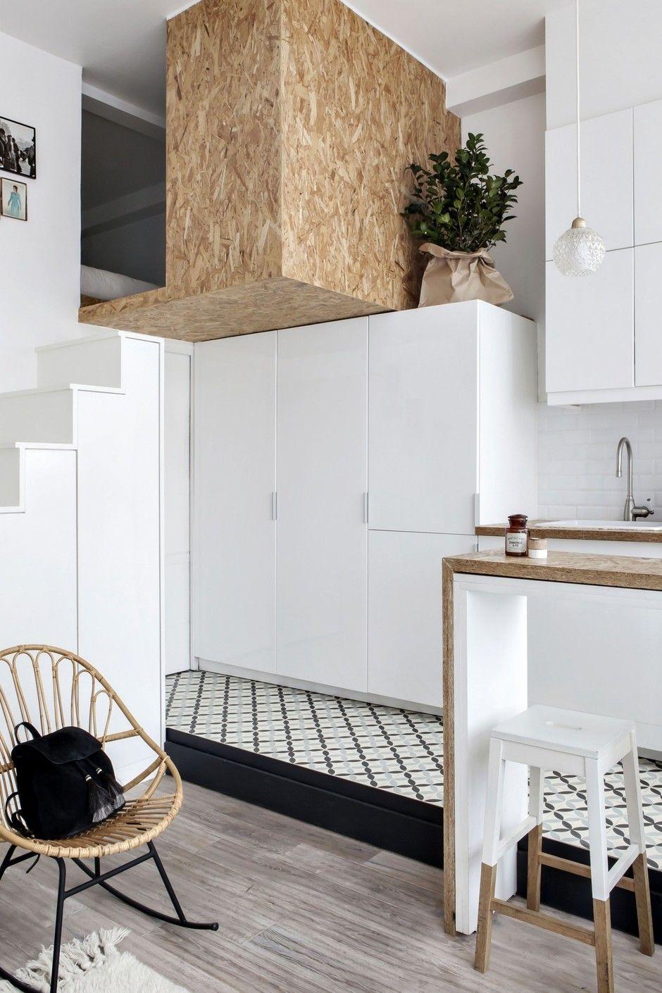 Мини-лофт с парижским шиком: комфортная студия на 22 м² (с ...
