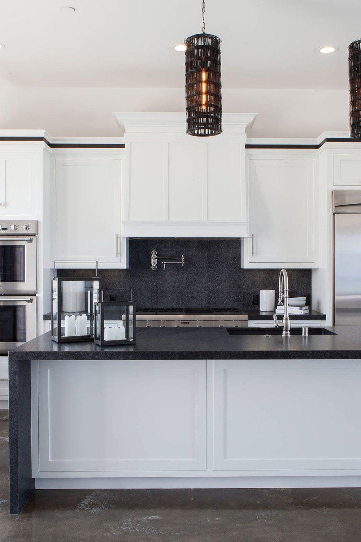 50+ Black Countertop Backsplash Ideas (Tile Designs, Tips ... on Best Backsplash For Black Countertops  id=33262