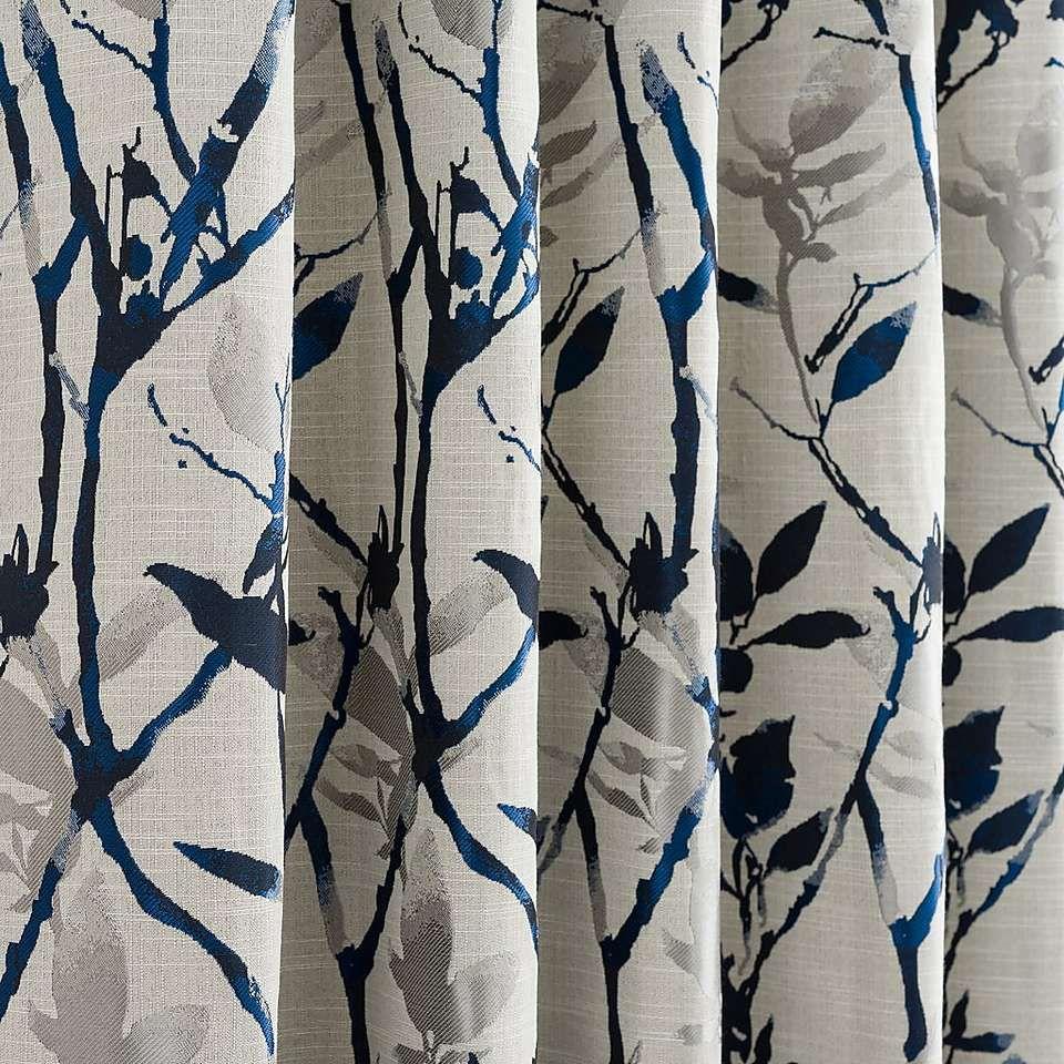 Jacquard Leaf Design Curtain Fabric Per Metre 3 Colourways