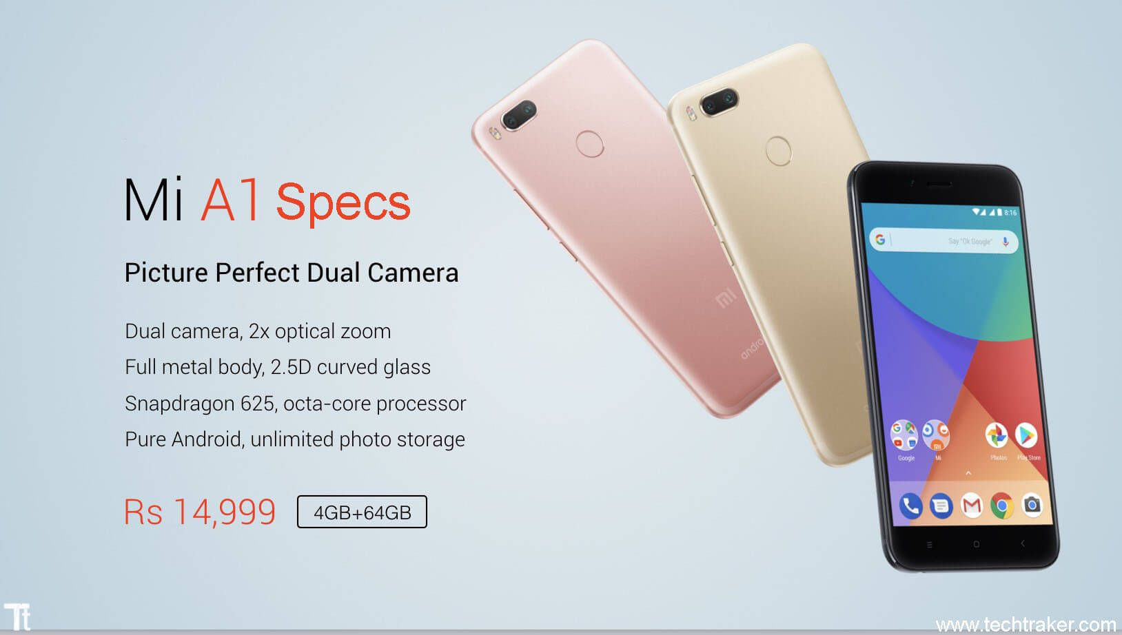 Specification Of Xiaomi Mi A1 5x General Operating System Android 7 1 2 Nougat Planned Upgrade To Android 8 0 Oreo Dev Pure Products Xiaomi Usb Radio