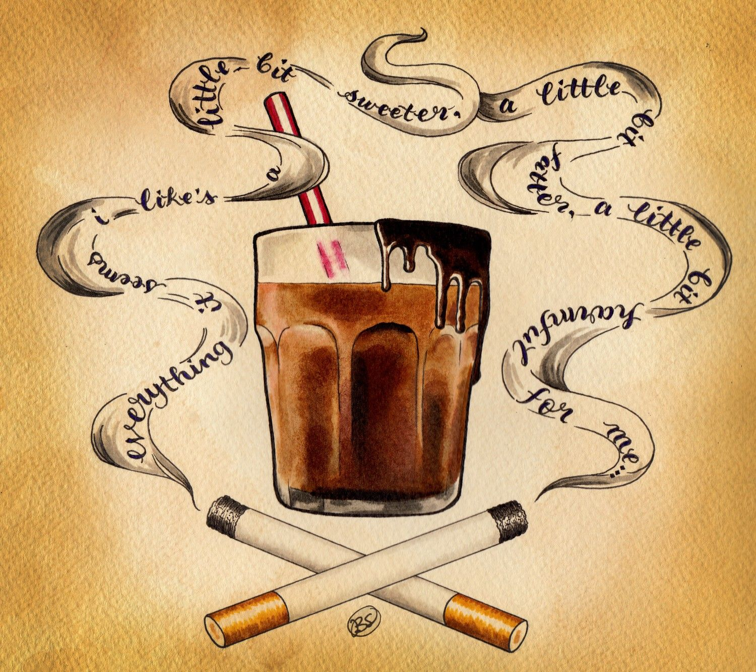 Cigarettes and Chocolate Milk (8x9 print) | Music film, Songs and ...