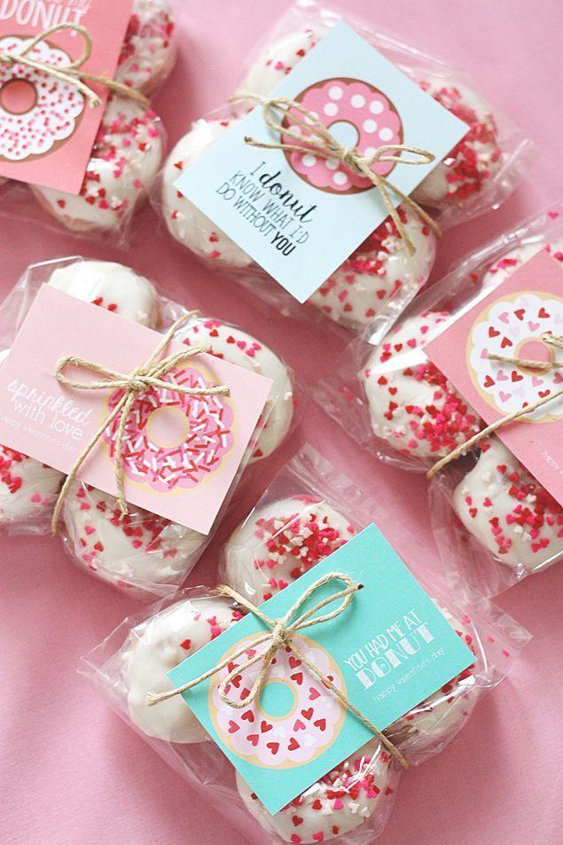 Valentine Donut Printables - Eighteen25