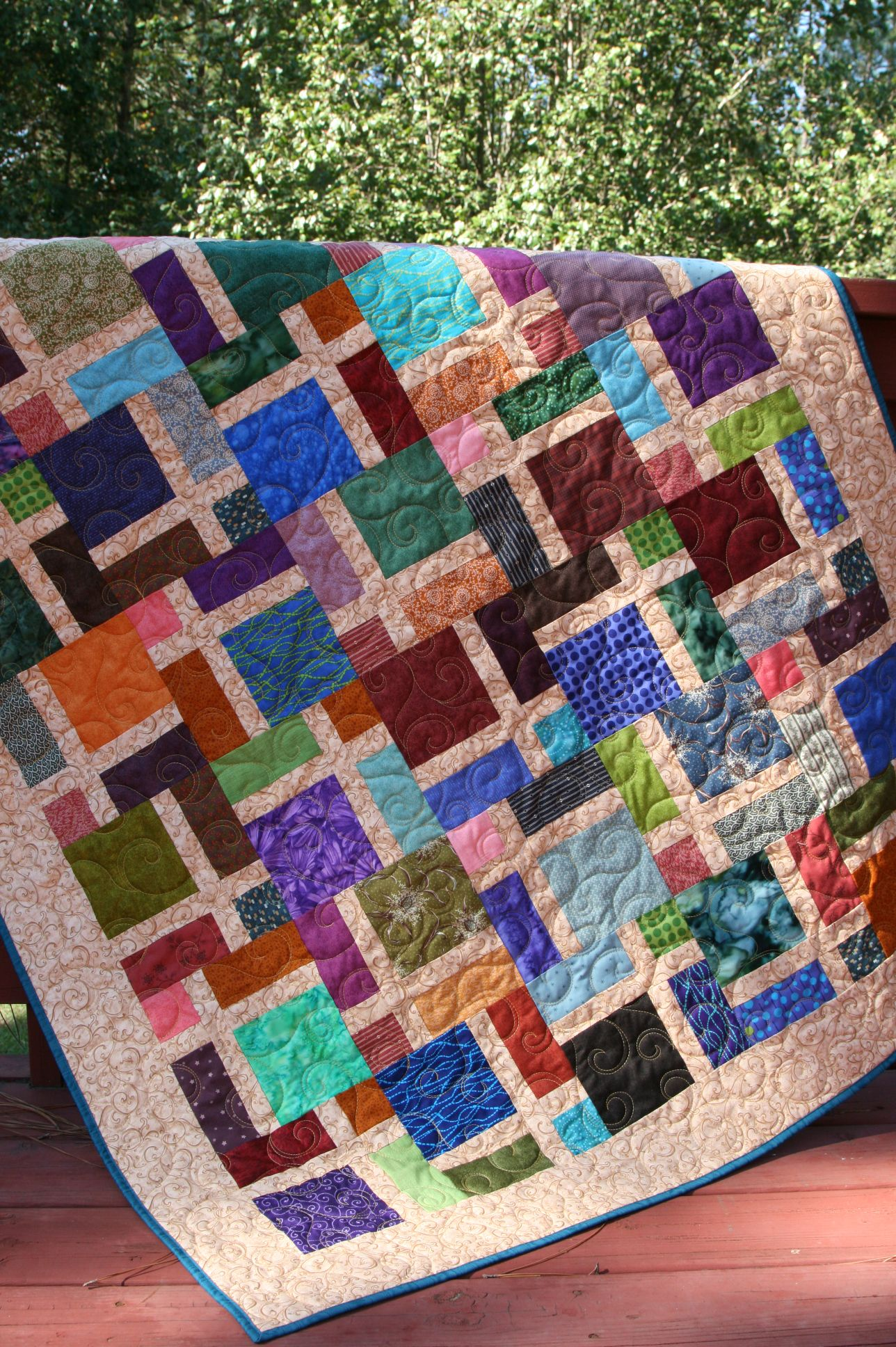 Window Pane Disappearing Nine Patch Nine Patch Quilt