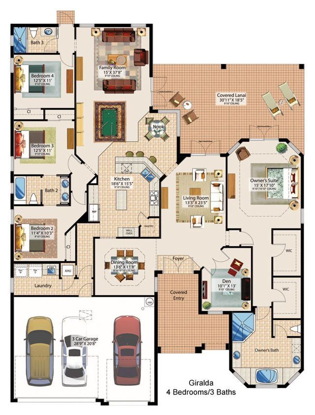Pin By Heather Grunauer On Home House Plans House Floor Plans Floor Plans