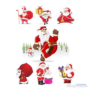 Santa Claus Logo Vector Cdr Vector Logo Santa Claus Vector