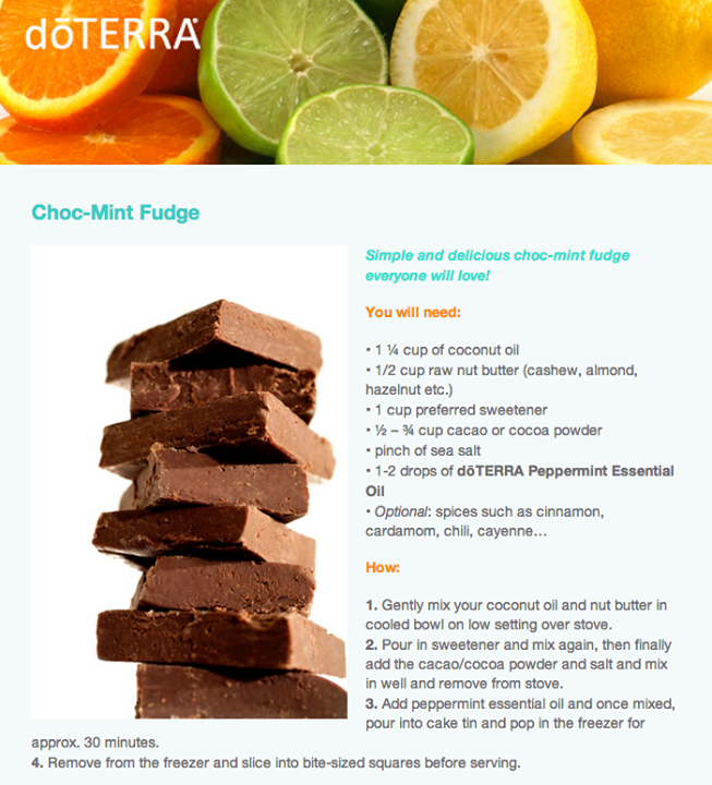 Choc mint fudge with doterra peppermint essential oil essential food choc mint fudge with doterra peppermint essential oil forumfinder Choice Image