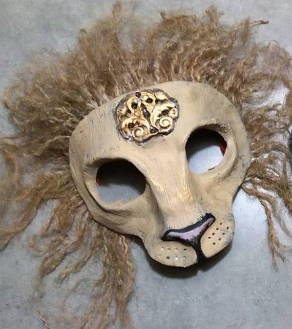 Lion mask big cat masquerade mask Anthroporphic by