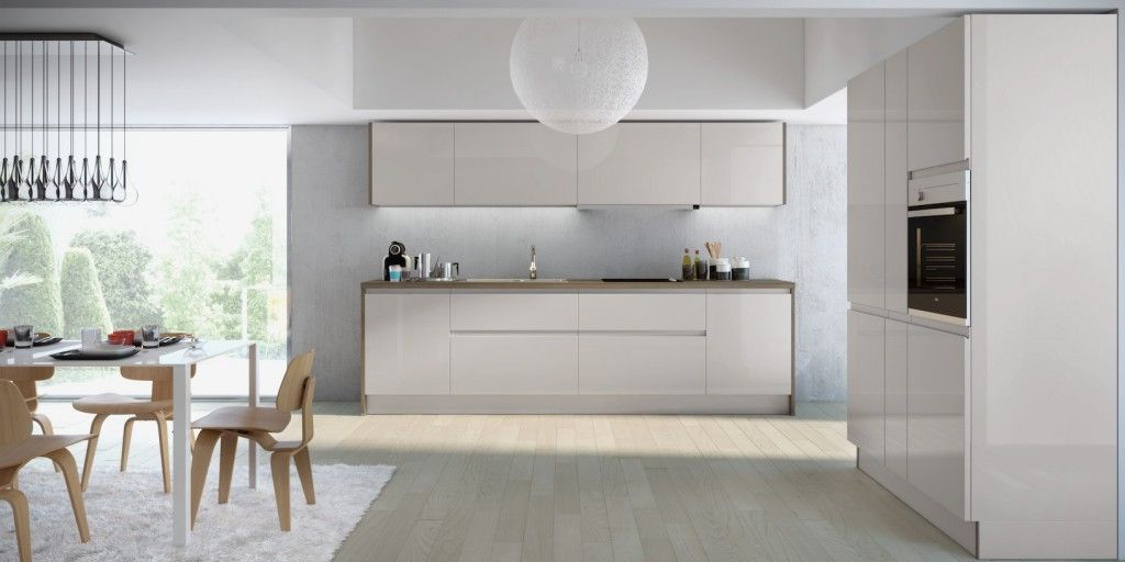 Enjoy more space in your #kitchen with a wall of cupboards to keep - schüller küche gala
