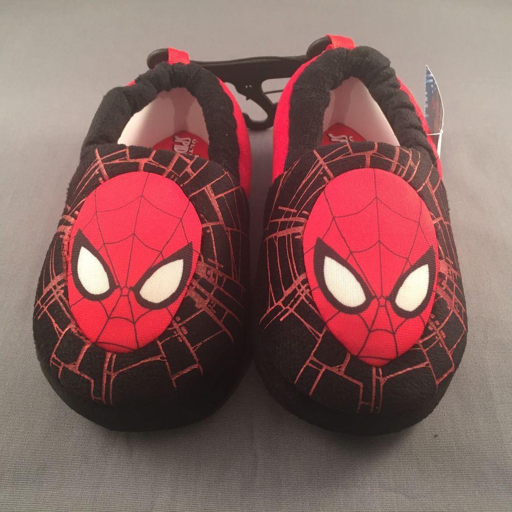 Marvels Ultimate Spiderman Toddler Slippers Large Size 9