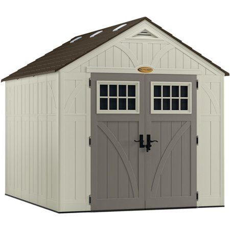 Suncast Tremont Storage Shed For Backyard Vanilla 8 X10 574 Cu Ft Plastic Storage Sheds Suncast Sheds Building A Shed