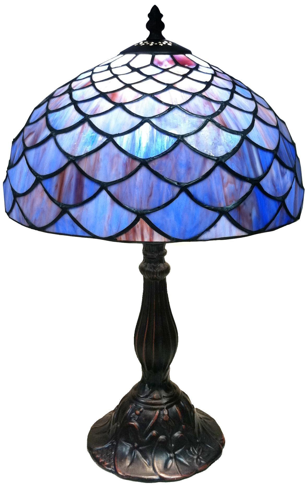 Blue Shell Motif Tiffany Style Table Lamp Lampsplus Com