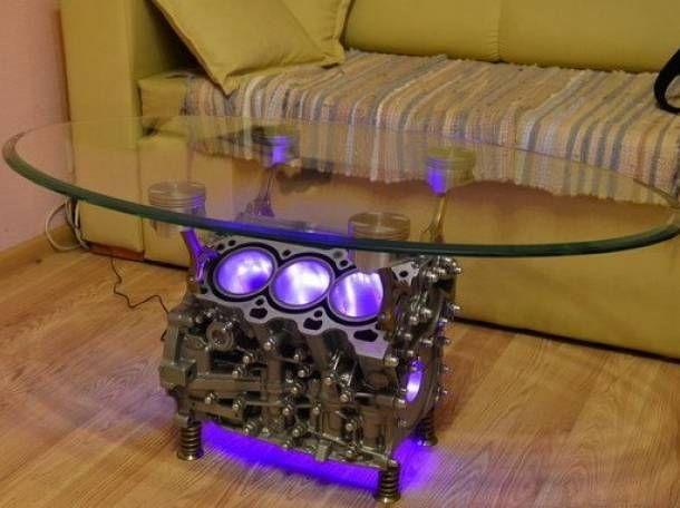 Engine Block Table Wohneinrichtung, Wohnzimmer, Möbel Aus Autoteilen, Coole  Ideen, Holzarbeiten,