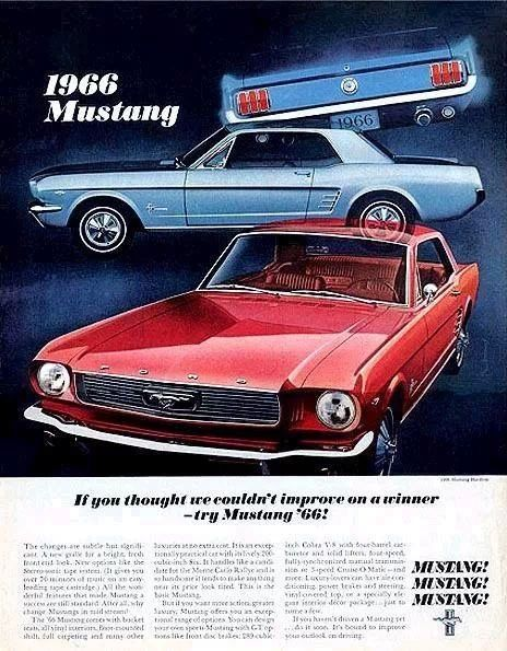 1966 Old Ford Mustang Adver