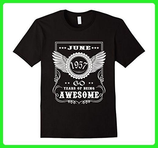 Mens 60th Birthday T Shirt Vintage Made In 1957 Gift Ideas Guys Medium Black