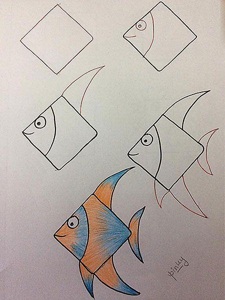 Diaskedastikoi Tropoi Gia Na Ftiaxnei To Paidi Sas Panemorfes Zwgrafies Enallaktikh Drash Easy Drawings Art Drawings For Kids Fish Drawings
