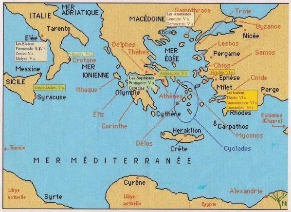 carte de la grece antique Épinglé sur Grèce antique