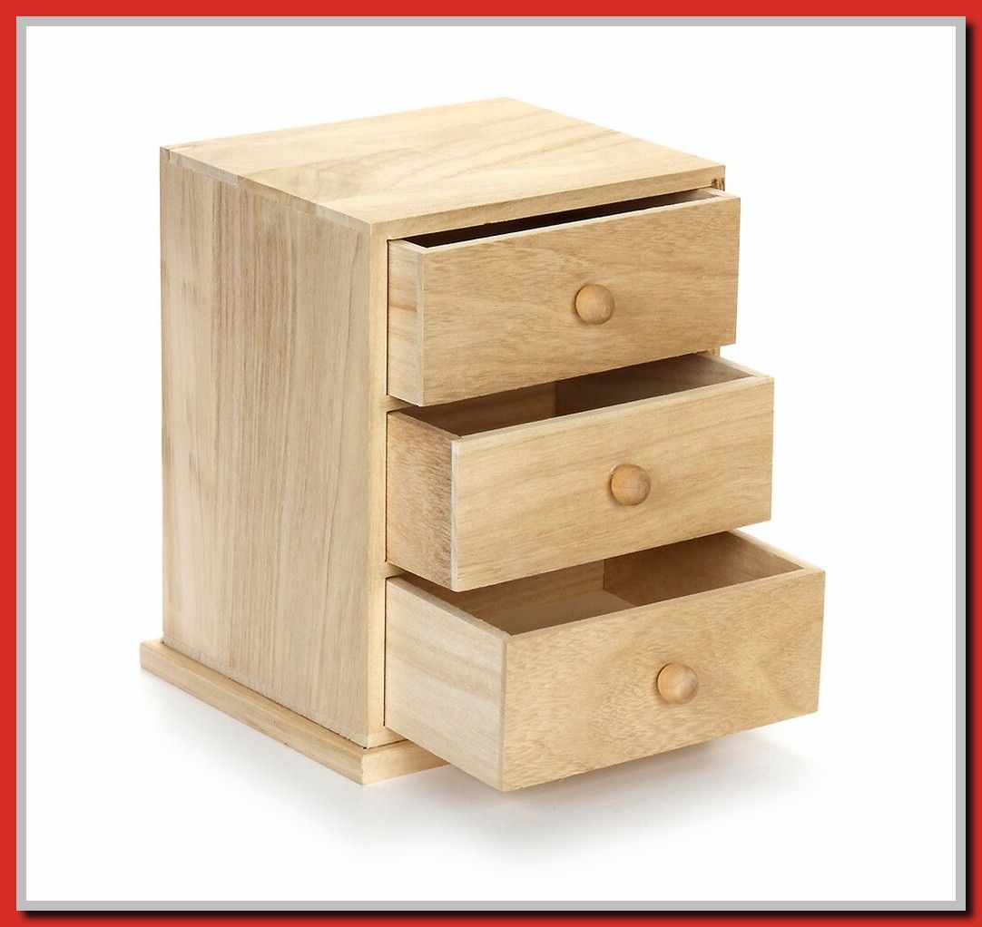 50 Reference Of Small Drawer Wooden Cabinet In 2020 Wooden Drawers Wooden Cabinets Unfinished Wood Boxes