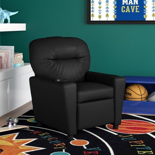 Blevins Kids Recliner and Ottoman with Cup Holder in 2020