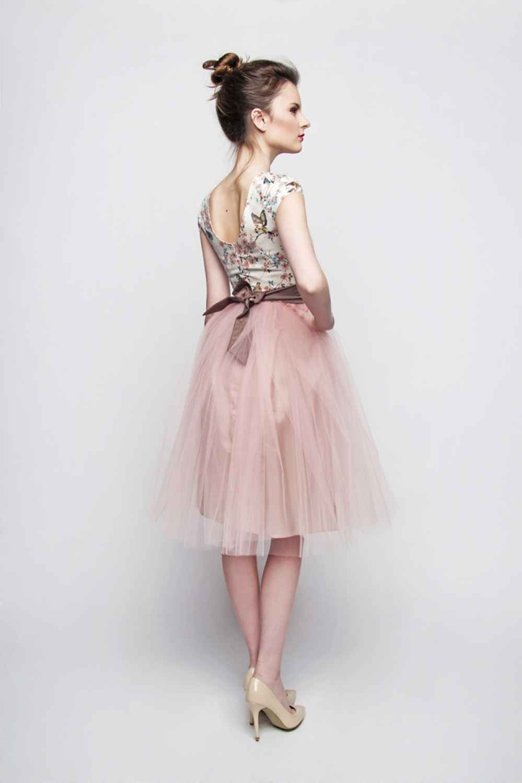 Standesamt Kleid Rosa Braun Kurz Mit Tullrock Individuelle Anfertigung Kleiderstile Rosarote Kleider Tageskleider
