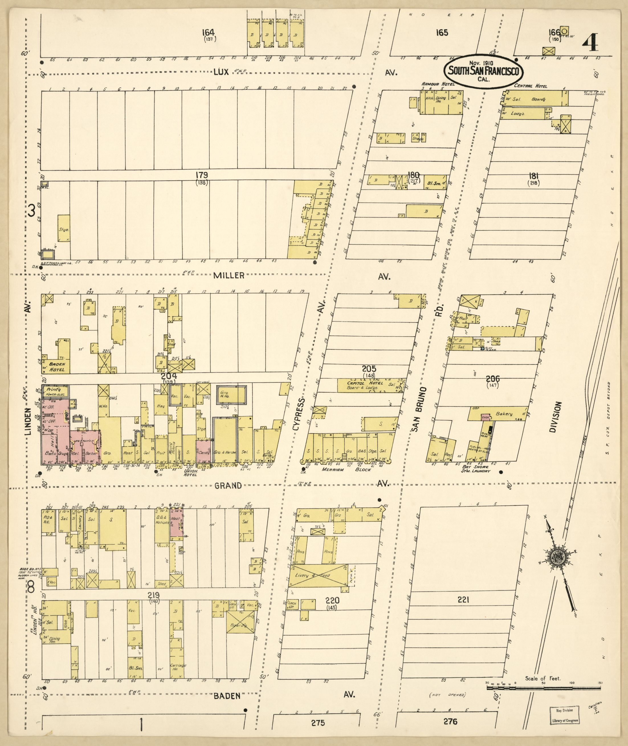 Title Sanborn Fire Insurance Map from South San Francisco San Mateo