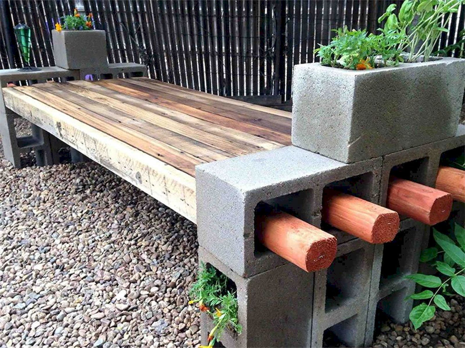 Diy Cinder Block Furniture Designs Cinder Block Furniture Concrete Garden Bench Cinder Block Garden