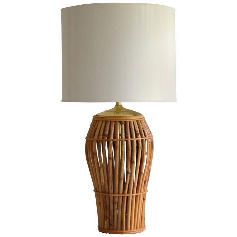 Mid Century Bamboo Table Lamp From A Unique Collection Of Antique And Modern Table Lamps At Https Www 1stdibs Com Furnit Lamp Table Lamp Vintage Table Lamp