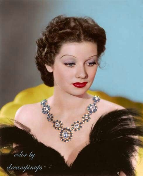 Lucille Ball Beautiful Color Photo Of Her With Dark Hair Lucille Ball I Love Lucy Hollywood