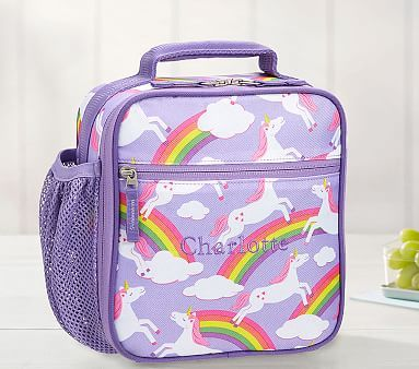 Mackenzie Lavender Unicorn Lunch Bags Pbkids With Images