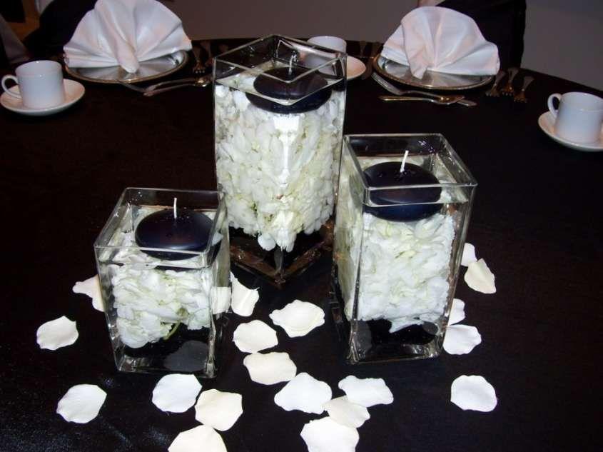 decoración boda en blanco y negro: fotos ideas elegantes - velas