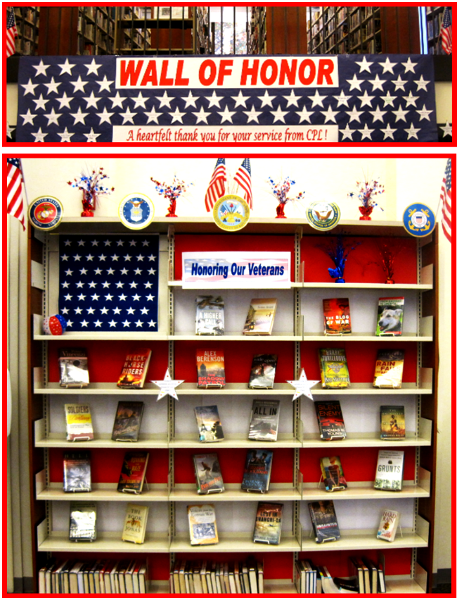 NovembeR: Veteran's Day Display and the Wall of Honor