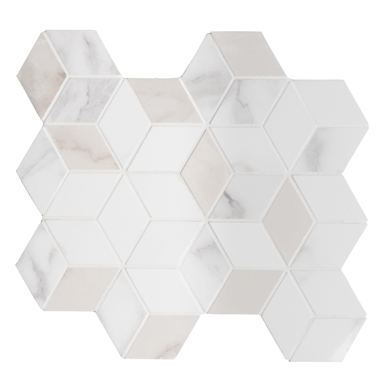 Mosaique Mur Murano Hexa Blanc Carrare Carrare Marbre Carrare
