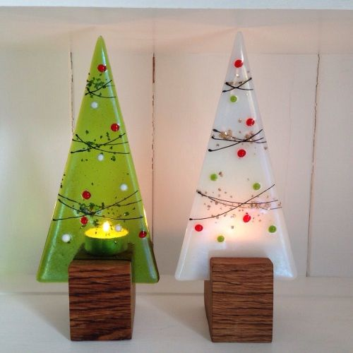 billedresultat for fused glass christmas - Glass Christmas Trees
