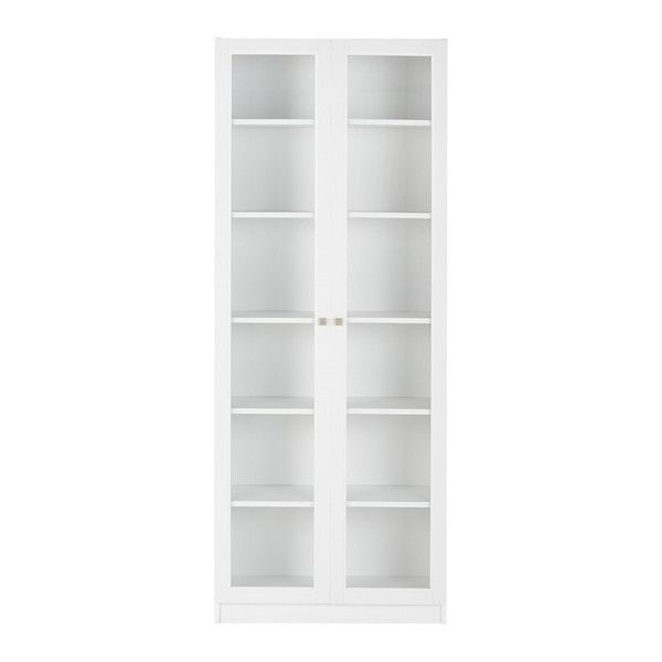 Lynx Large Wide Bookcase With Glass Doors 165 Liked On