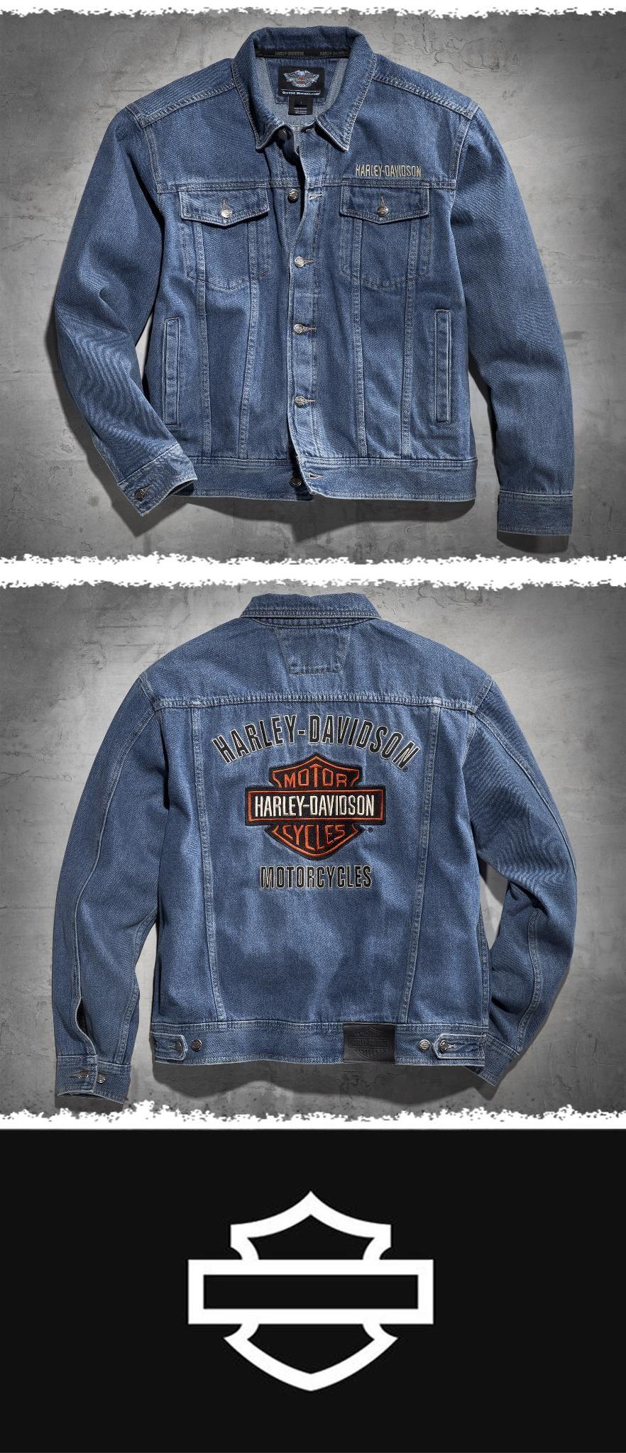 6f4017200f63 Bar & Shield Denim Jacket | H-D Gear For Him | Harley davidson jeans ...