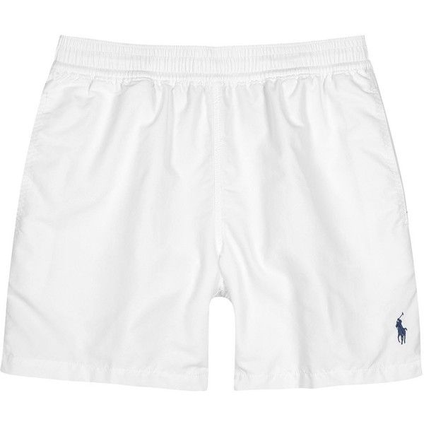 d2881e692b Polo Ralph Lauren Hawaiian White Swim Shorts - Size XXL ($75) ❤ liked on