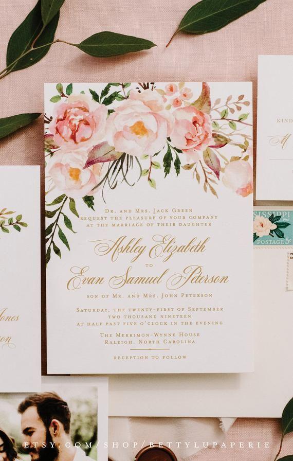 Blush Gold Wedding Programs for Bohemian Floral Wedding Ceremony a15