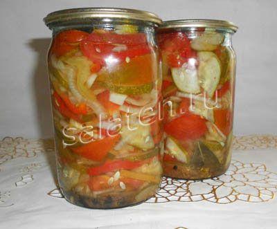 салаты из огурцов и помидор на зиму рецепты с фото
