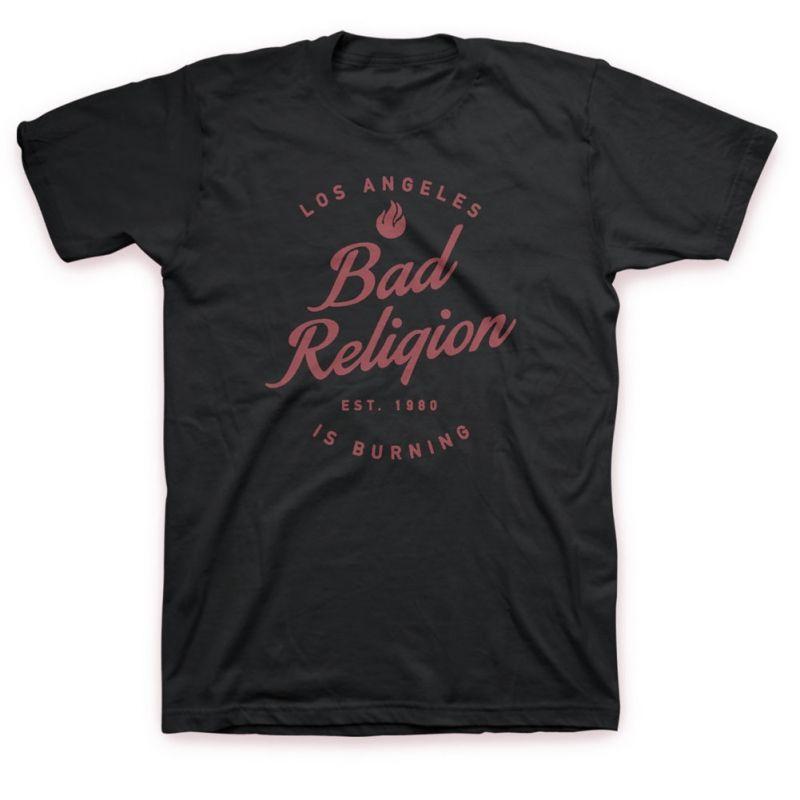 La Is Burning T Shirt