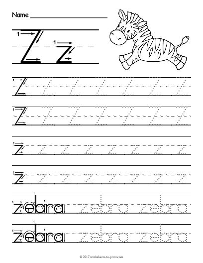 Free Printable Tracing Letter Z Worksheet Letter Tracing