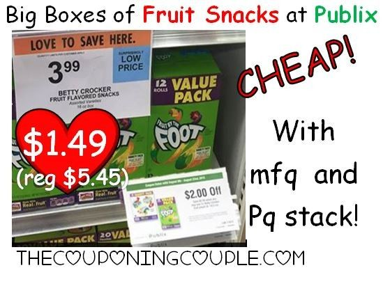 Cheap Fruit Snacks at Publix! Plus possible moneymaker scenario with Instant savings! Be sure to look for this PQ at your store! Click the link below to get all of the details ► http://www.thecouponingcouple.com/cheap-fruit-snacks-at-publix-possible-mm-with-instant-savings-thru-819/  #Coupons #Couponing #CouponCommunity