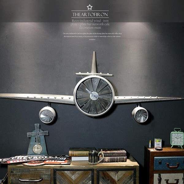 Industrial Retro Aircraft Propeller Wall Clock Propeller Wall Industrial Wall Decor Airplane Decor