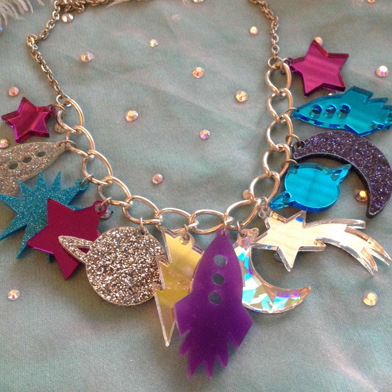 Galaxy Charm Necklace. $18.00, via Etsy.